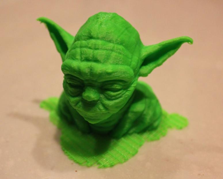 3D Printed Yoda Bust: Nanogram Experiments