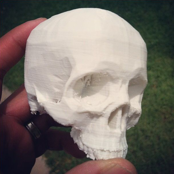 Nanogram Experiments: 3D Printed Skull in ABS Plastic