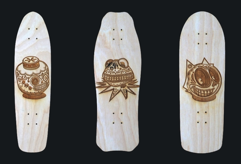 Custom Skatedeck Wall art for Cubicles