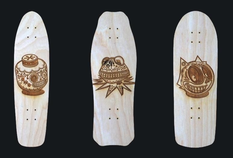 Custom Skatedeck Wall art for Cubicles