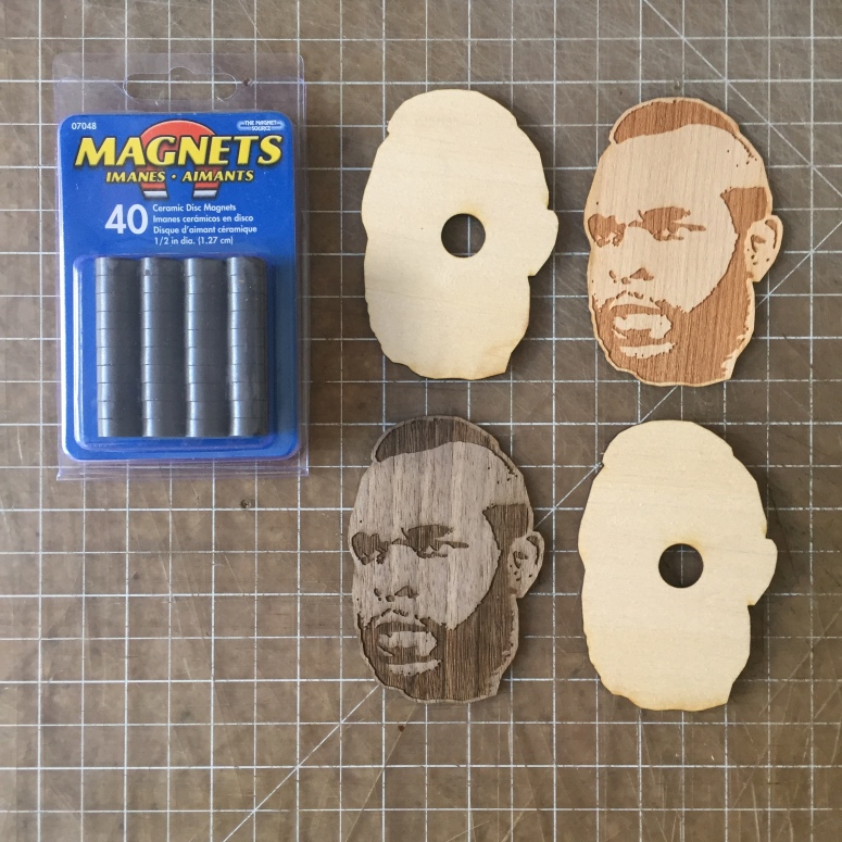 Mr T laser cutting magnets from wood 014