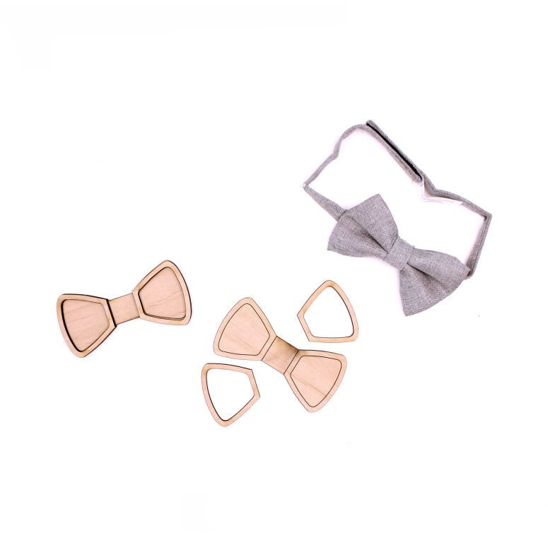 014 wood bow tie for kids